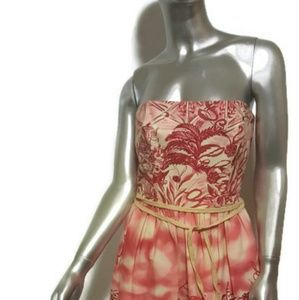 DAVID MEISTER Strapless Midi Dress Size 4